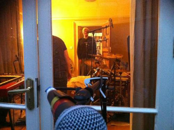 Biff Roxby looking out from the Bedlam Six house studio towards the vocal area