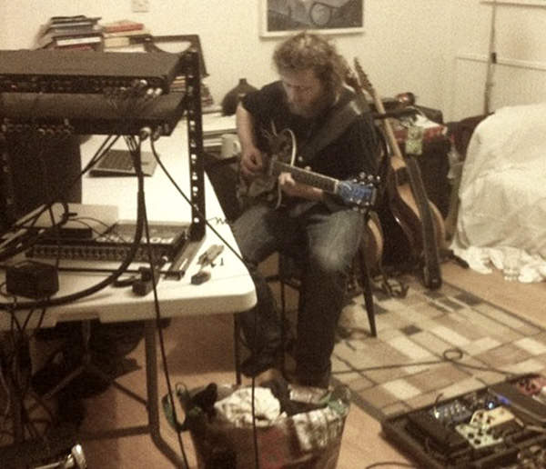 Cleg working on guitar parts