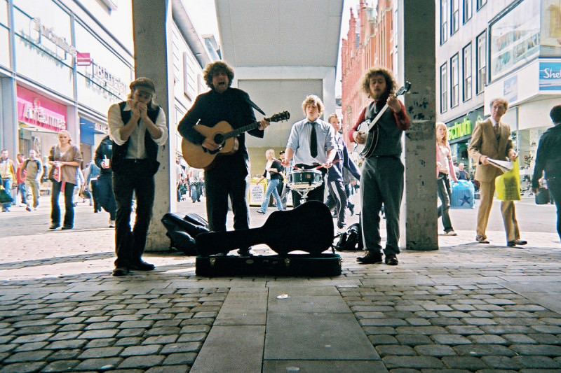 Busking in pre-Bedlam Six days