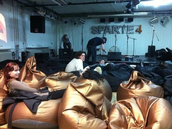 Beanbags at Sparte4 in Saarbrucken