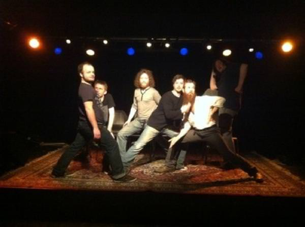 Photo of The Bedlam Six after a Switzerland show, taken by Kirsty Almeida
