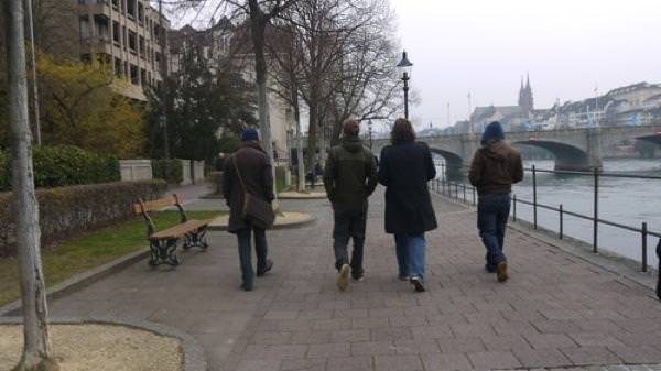 The band in Basel before their gig