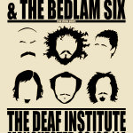 Poster for Louis Barabbas & The Bedlam Six at Manchester's Deaf Institute in March 2014