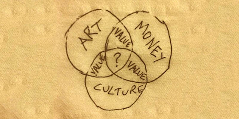 Venn diagram of Art, Money and Culture