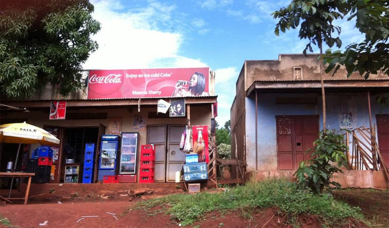 A street scene in Uganda